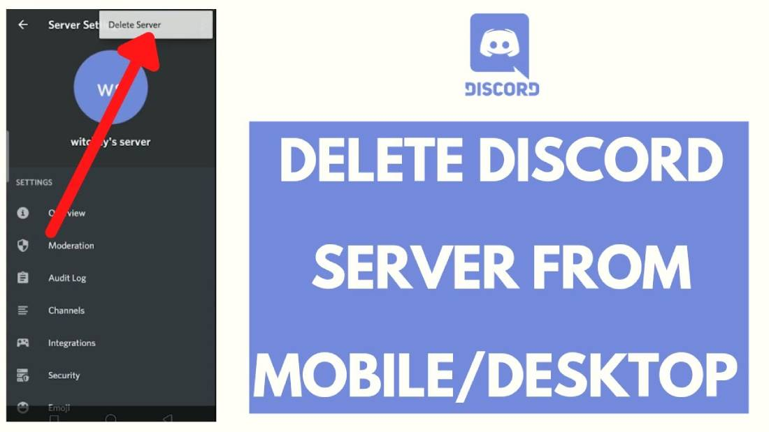 what is discord server   how to delete discord server on mobile and pc in 2021